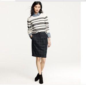 J. Crew plaid pencil skirt